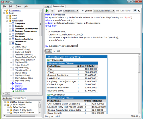 Debugging, Visualizing and Querying data using LINQ | Raj